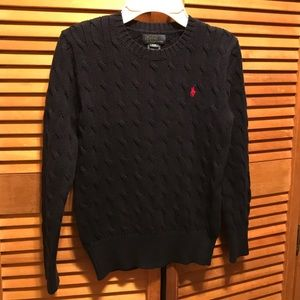 Polo Ralph Lauren Navy Blue Cable Knit Sweater